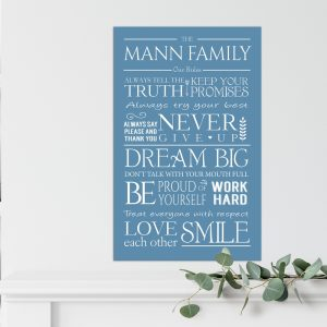 Personalised Family Canvas Prints